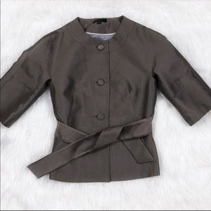 Banana Republic Wool Silk Belted Jacket Size 6